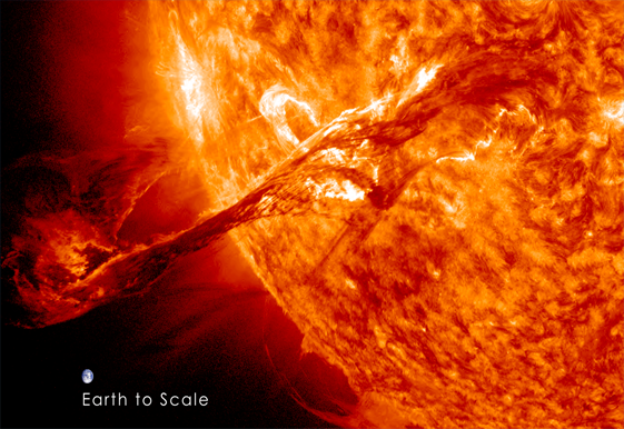 Massive Coronal Mass Ejection Recorded by NASA